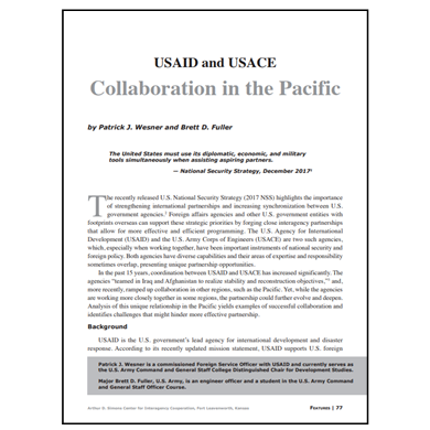 Featured Article: USAID and USACE Collaboration in the Pacific