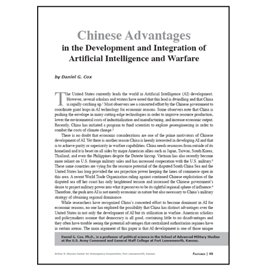 Featured Article: Chinese Advantages in the Development and Integration of AI…