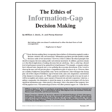 Featured Article: The Ethics of Information-Gap Decision Making