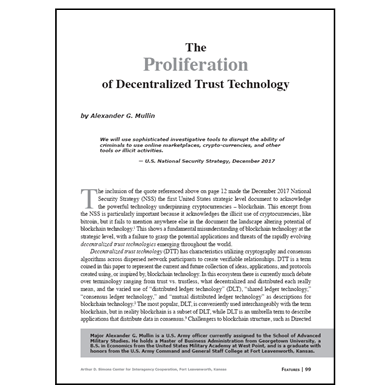 Featured Article: The Proliferation of Decentralized Trust Technology