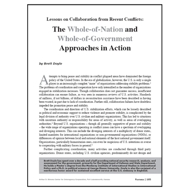 Featured Article: Lessons on Collaboration from Recent Conflicts…
