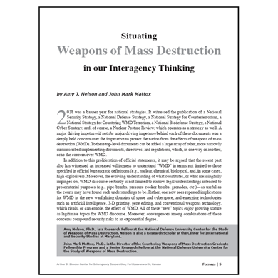 Featured Article: Situating Weapons of Mass Destruction in our Interagency Thinking