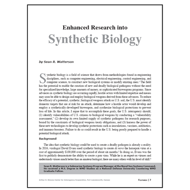 Featured Article: Enhanced Research into Synthetic Biology