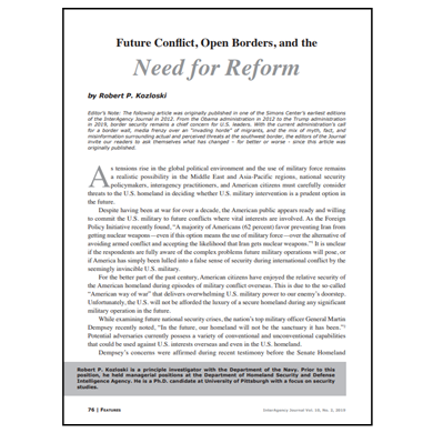 Featured Article: Future Conflict, Open Borders, and the Need for Reform