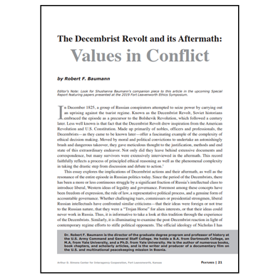 Featured Article: The Decembrist Revolt and its Aftermath…