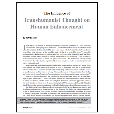 Featured Article: The Influence of Transhumanist Thought on Human Enhancement