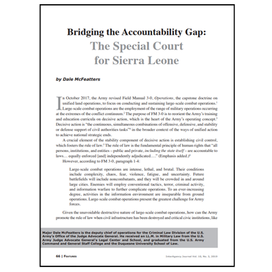 Featured Article: Bridging the Accountability Gap…