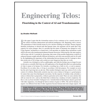 Featured Article: Engineering Telos…