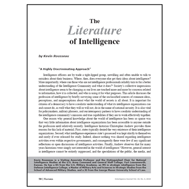 Featured Article: The Literature of Intelligence