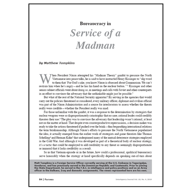 Featured Article: Bureaucracy in Service of a Madman