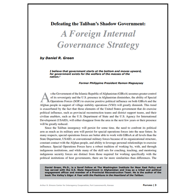 Featured Article: Defeating the Taliban's Shadow Government…