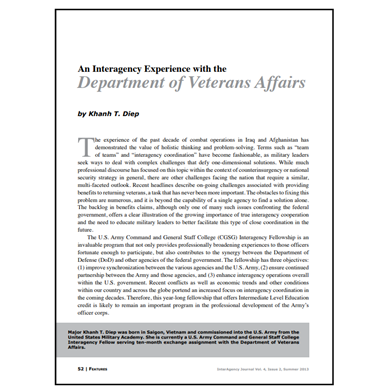 Featured Article: An Interagency Experience with the Department of Veterans Affairs
