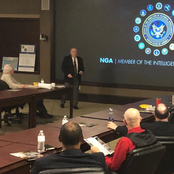 Senior Geospatial Intelligence Officer speaks at latest brown-bag lecture