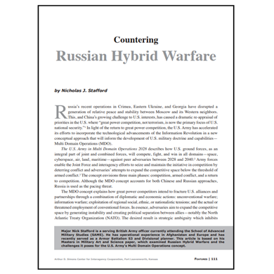 Featured Article: Countering Russian Hybrid Warfare