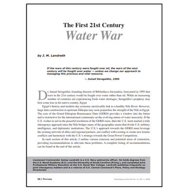 Featured Article: The First 21st Century Water War