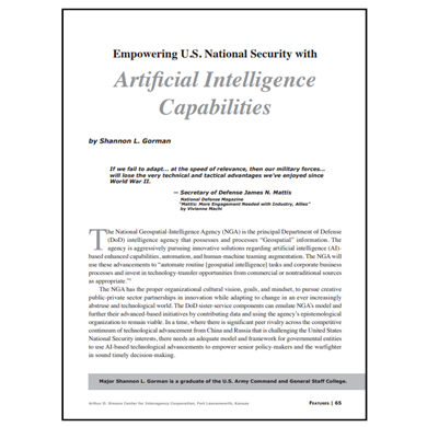 Featured Article: Empowering U.S. National Security with AI Capabilities