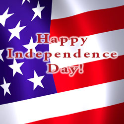Happy Independence Day 2020 text over flag