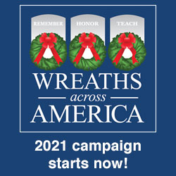 """Wreaths Across America logo with """"2021 campaign starts now!"""" text"""