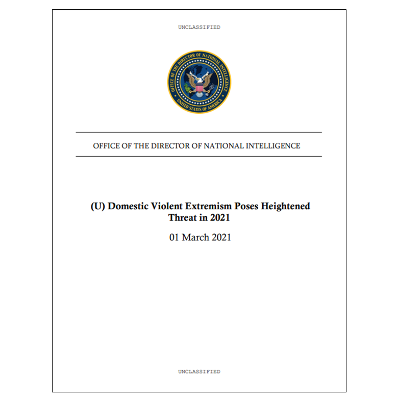 Unclassified domestic violent extremism assessment released