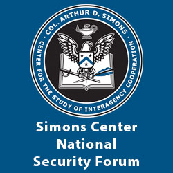 Register now for the Simons Center National Security Forum – May 20